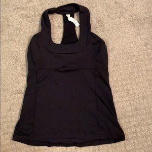 Lululemon Black Tank Top with bra